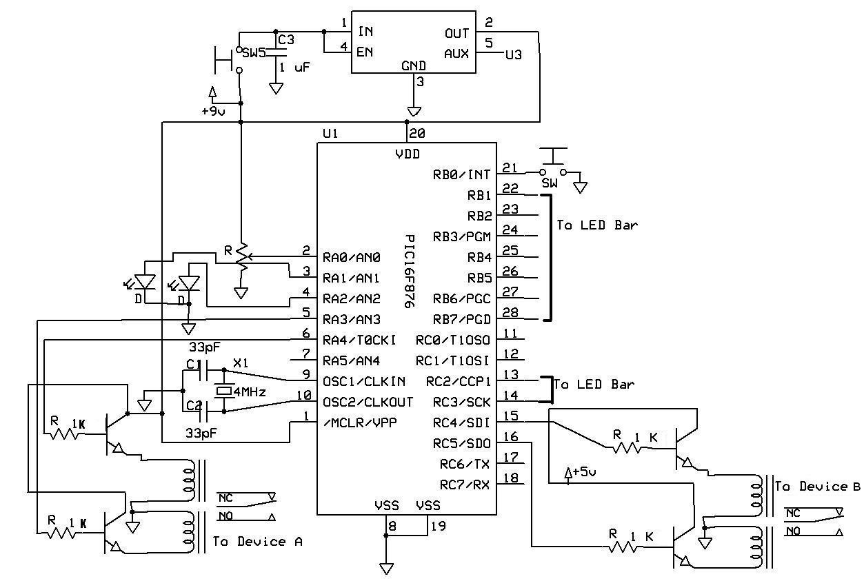Switch Relay Rehabilitation Engineering Design Projects Circuit Diagram Nc The Primary Components Are A Pic And